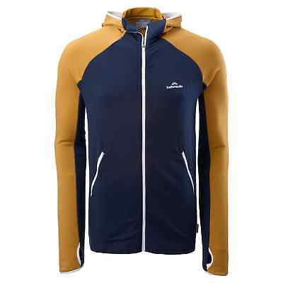 Kathmandu Depart Men's Merino Blend Zip Top Long Sleeve Hooded Active Jacket