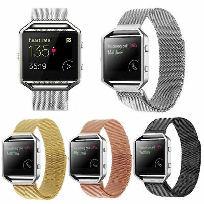 New Milanese Magnetic Loop Stainless Steel Band Strap For Fitbit Blaze Bracelet