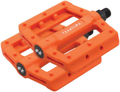 "FYXATION GATES SLIM ORANGE 9//16/"" 3-PIECE CRANK BICYCLE PEDALS"