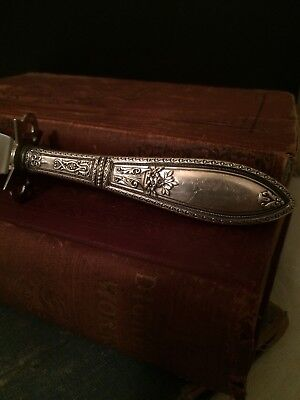 Antique Webster Sterling Silver Knife/Handle Rare Floral Pattern