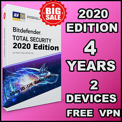Bitdefender Total Security 2019 / 2020 - 4 Years 2 Devices Activation - Download