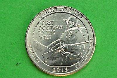 2016-D   BU  Mint State ( Cumberland Gap) US National Park Quarter
