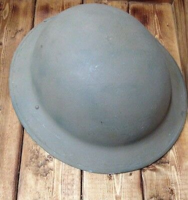 Antique Metal Us Army Helmet Early Wwii No Liner Painted