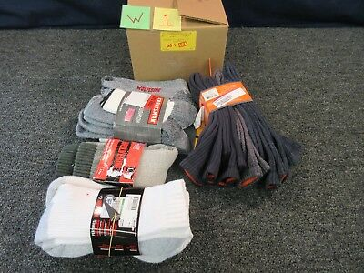 11 Pairs Mens Crew Socks Wolverine Dockers Craftsman Clothes Large 9-13 Bulk Lot