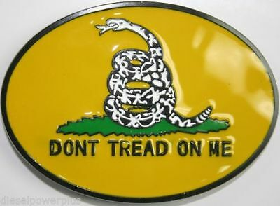 Dont Don't Tread on Me Belt Buckle Yellow Oval Gadsden FAST USA SHIPPING