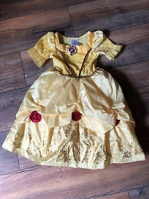 Belle Deluxe Disney Princess Beauty Beast Fancy Dress Up Halloween Costume Sz 3