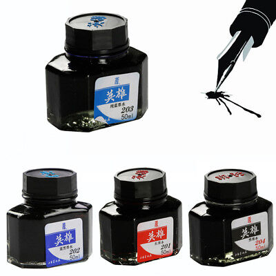 50ML Calligraphy Fountain Pen Smooth Ink Glass Bottle School Office Supplies HOT