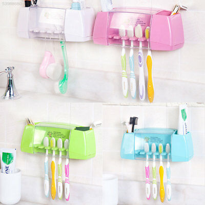 F4DF Multifunctional Suction Toothbrush Holders Toothpaste Storage Rack Accessor