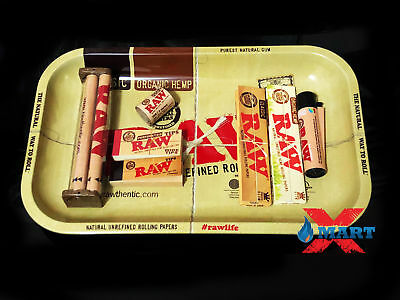 Raw Paper King Size Combo Tray+Papers+Tips+Rolling Machine+Lighter (B3)