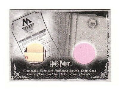 Harry Potter Double Prop Card Dolores Umbridge's Reports P10 #005/280 LOW