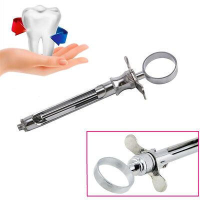 Stainless Steel Dental Aspirating Syringe Dentist Surgical Instruments Two Heads