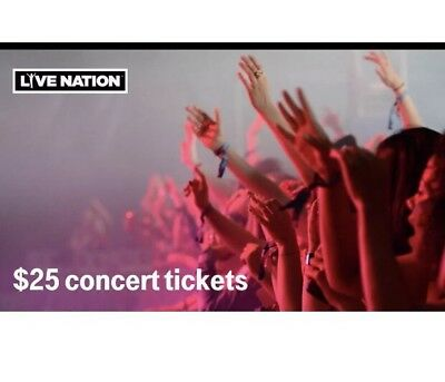 6efffe65a887 LIVE NATION $25 Concert Ticket Promo Code by T-Mobile ~ Redeem by 09/