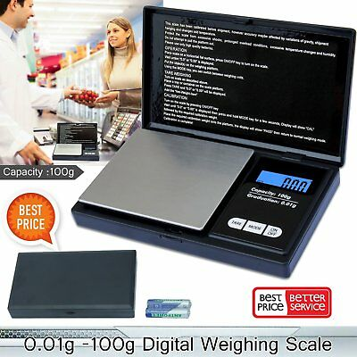 Electronic Pocket Mini Digital Gold Jewellery Weighing Scales 0.01G to 100G QQ