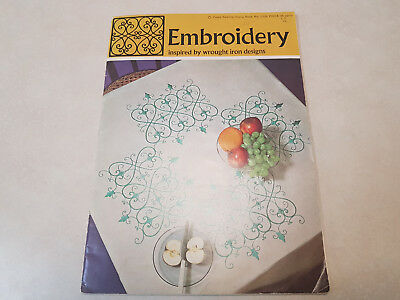 Coats 1024 Embroidery Pattern Designs Booklet Inspired By Wrought Iron Designs