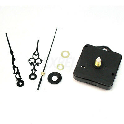 Hand DIY Replacement Black Wall Clock Quartz Movement Mechanism Part Fittings