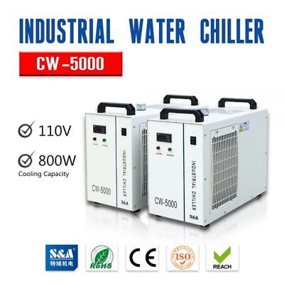 CW-5000DG Industrial Water Chiller for Single 80W or 100W CO2 Glass Laser Tube