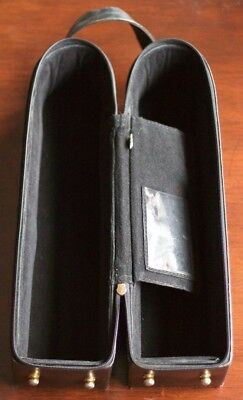 Carlo Rossini black leather wine carrier / cooler