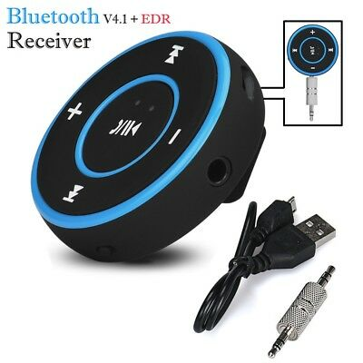 Bluetooth Wireless wired 3.5mm Audio Stereo Adapter Car AUX Home Music Receiver