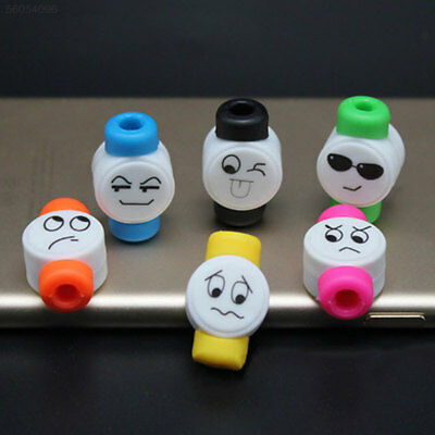 9AC8 Cute Cartoon Data Cable Wire Charging Terminal Protection Soft Winder Case