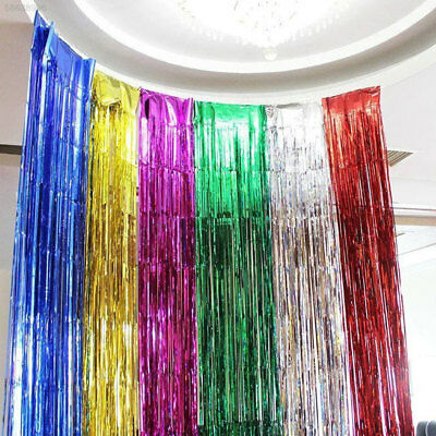 442B Glitter Foil Tinsel Metallic Backdrop Christmas Party Wedding Decoration