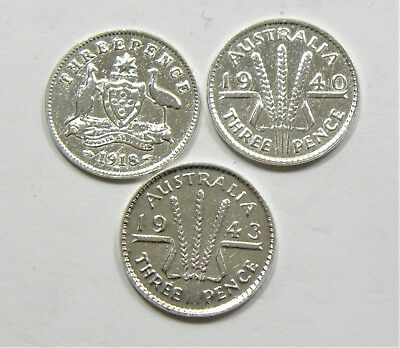 Scrap Lot of 3 Sterling Silver Coins - Bullion #199