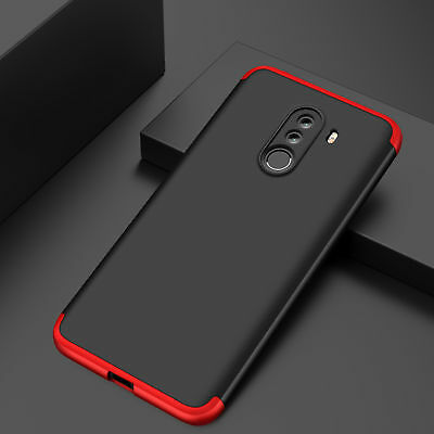 For Xiaomi Pocophone F1 Luxury Full Cover Shockproof Hard PC 3 in 1 Hybrid Case