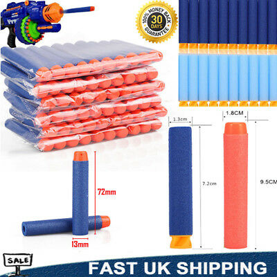 60-1000x Nerf Gun Soft Refill Bullets Darts Round Head Blasters For N-Strike Toy