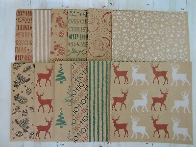 Christmas Card Making Paper - Assorted Christmas