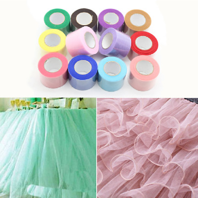 "Tulle Roll 2"" wide x 25 yards Tutu Skirt Dress Soft Fabric Nylon Wedding Decor"