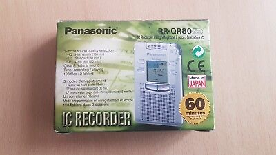 Panasonic RR-QR80 IC Recorder Silver Argent (Made in Japan)