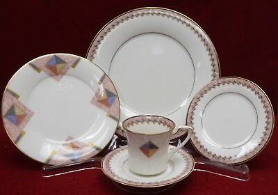 NORITAKE china MOMENTUM pttn 5-piece Place Setting cup saucer dinner salad bread