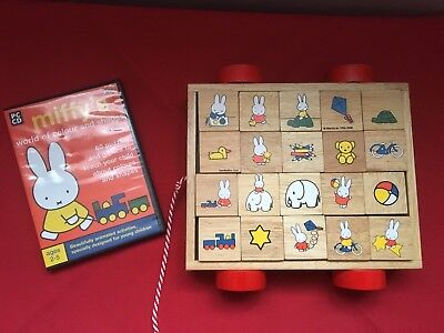 MIFFY Original Classic Wooden Squares Chariot Toy