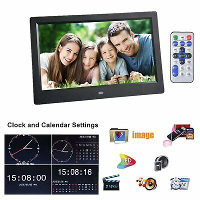 """10.2""""HD LCD Digital Photo Frame Picture High Resolution Screen Video Alarm Clock"""