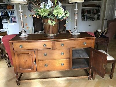 A Beautiful French Polished Wooden Sideboard