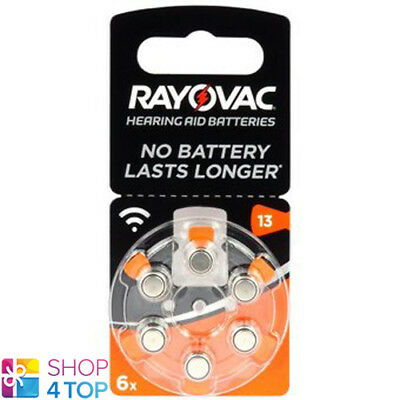 6 Rayovac Acoustic Special Size 13 Mf Pr48 Hearing Aid Batteries 1.45V Zinc Air