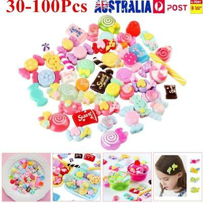 Slime Charms Mixed Resin Candy Beads Making Supplies DIY Collage Crafts AU!