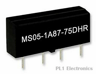 STANDEXMEDER    MS05-1A87-75DHR    Reed Relay, MS Series, 5 VDC, 500 ohm, 500 mA