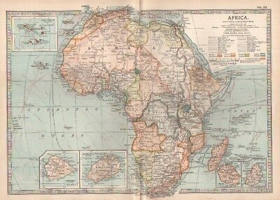 1903 map of Africa Adam & Charles Black