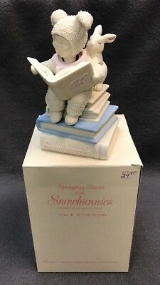 "Dept 56 SNOWBUNNIES ""B Is For Bunny"" Music Box Here Comes Peter CottonTail Moves"