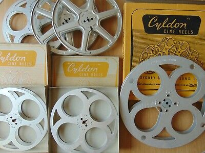 JOB LOT 6 x 9.5mm UNUSED FILM HOME MOVIE METAL REEL