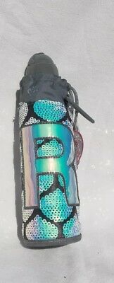NWT JUSTICE Mermaid Sleeve Water Bottle With Initial Letter ~R~