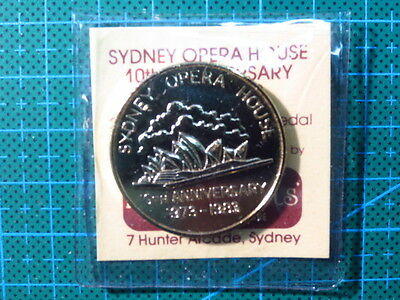 Sydney Opera House 10th Anniversary 1973-1983 24k Gold Plated Medal