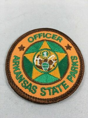 Arkansas State Parks Officer Patch w/Cheesecloth Back