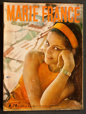 'marie-France' French Vintage Magazine Claudia Cardinale Cover August 1961