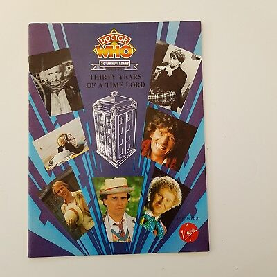 Doctor Who 30th Anniversary Magazine THIRTY YEARS OF A TIMELORD - Virgin 1993
