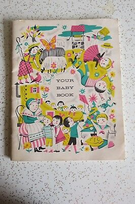 Your Baby Book Vintage 1960's New Baby Infant Manual Book, Baby Shower