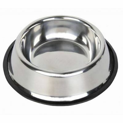 HKM Stainless Steel Feeding Bowl Dinner Dog Cat Pet Water Small Large Puppy New