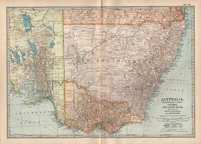 1903 map of South East Australia Adam & Charles Black