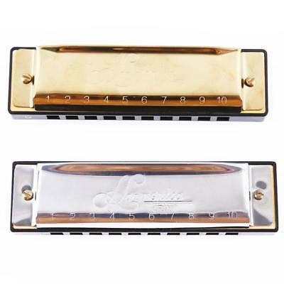 Harmonica Mouth Organ 10 Holes with 20 Tones Key of C Blues Harp LIN
