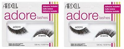 7b6016d54d2 2 x ARDELL Adore 'ARIANNA' Lashes - Black False Lashes - Adhesive Included
